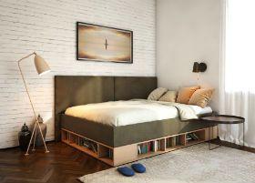 Кровати с полками